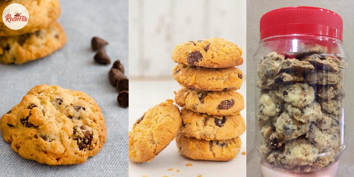 Biskut Raya Cornflakes Chocolate Chip – Crunchy Di Luar, Manis Di Dalam!