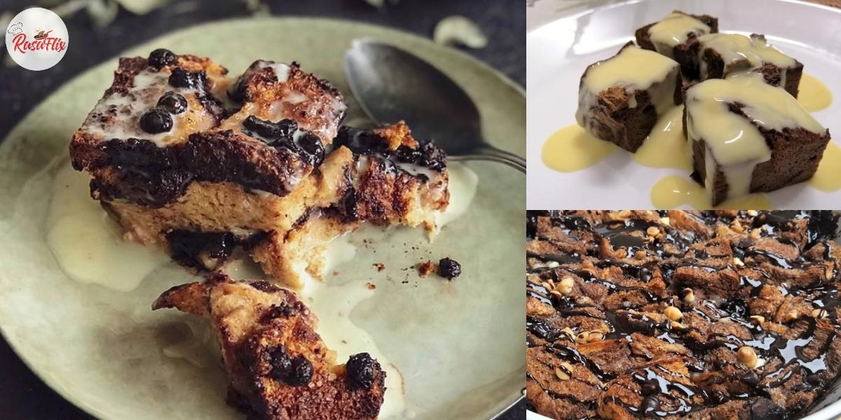Resepi Homemade Puding Roti Coklat Kayangan & Sos Creamy Lemak Manis