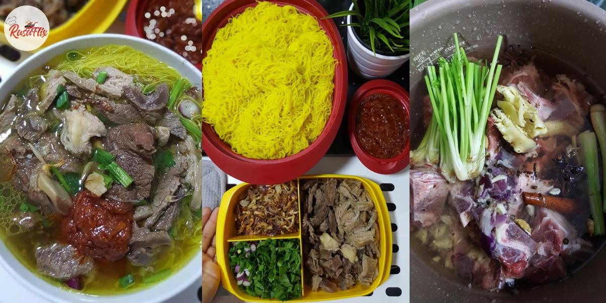 Resepi Bihun Sup Tulang Utara Original, Sedap 'Lawankan' Sambal Cili Merah