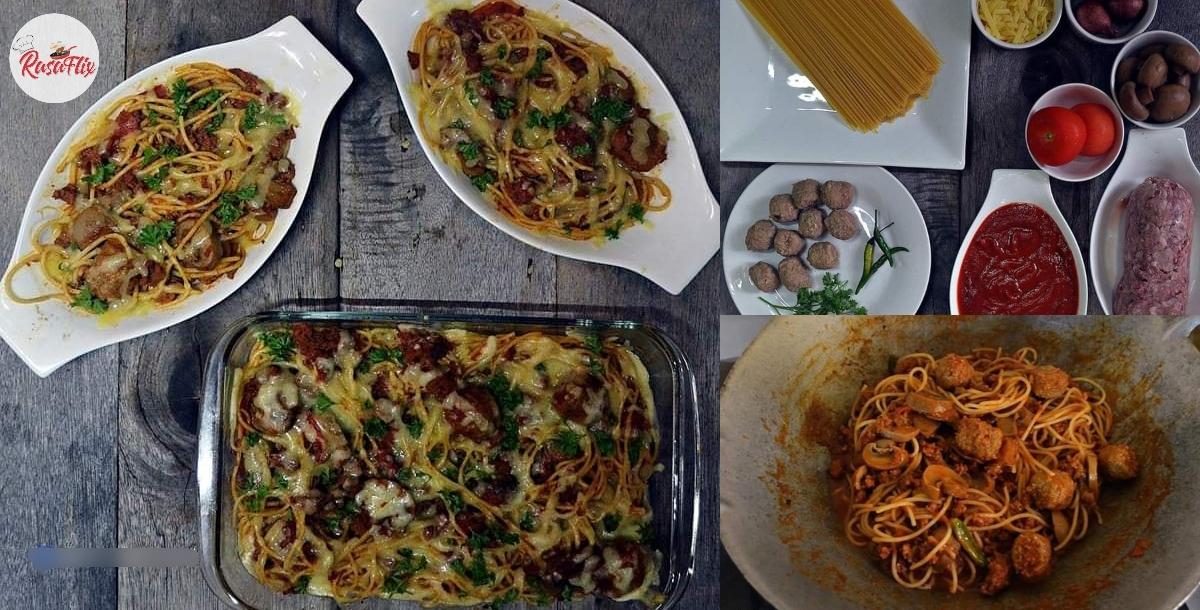 Bosannya Asyik Makan Nasi Masa Iftar, Jom Try Spaghetti Bolognese Bakar!
