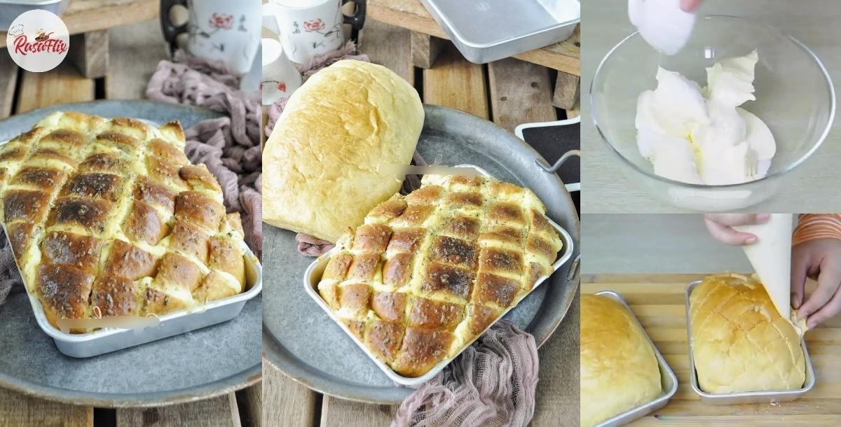 Confirm Sedap & Bau Semerbak, Jom Buat Roti Korean Garlic Cheese Di Rumah