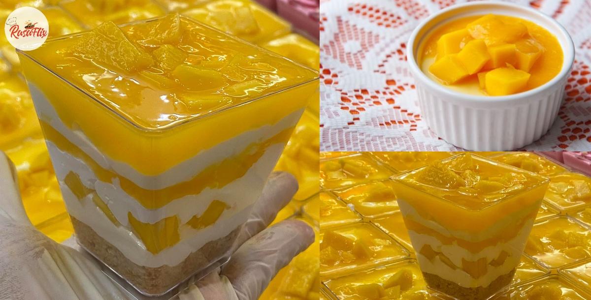 Mudahnya & Tak Perlu Bakar, Jom Buat Pencuci Mulut Mango Loaded Cheese