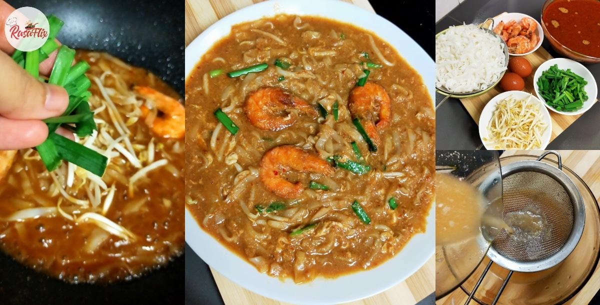 Resepi Mudah Char Kuey Tiaw, Kuah Pekat Confirm 'Menyegat' Habis!