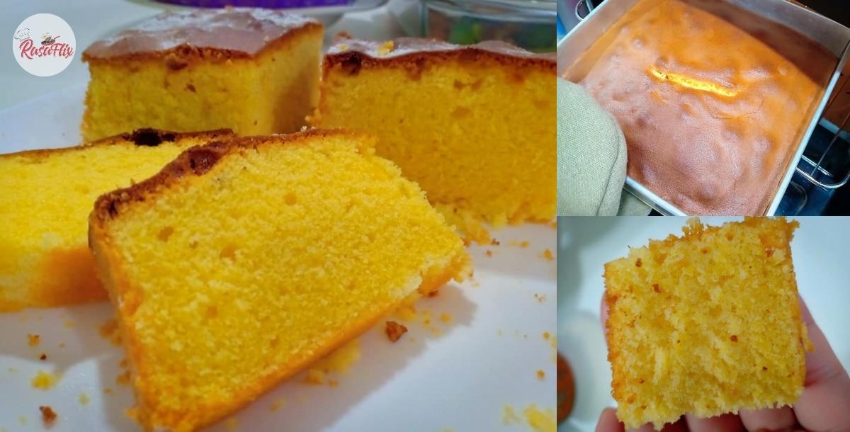 Resepi Kek Sunquick Oren Gebu & Cair Di Mulut, Hanya Perlu 5 Bahan Je!
