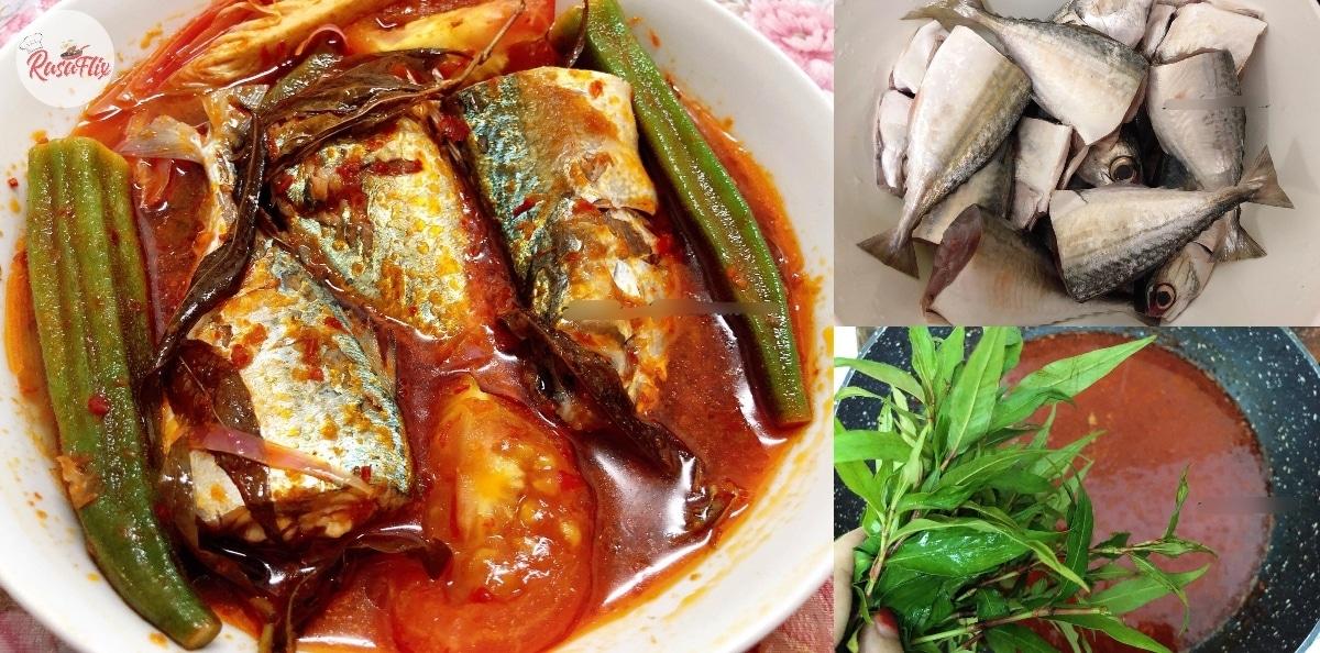 Resepi Asam Pedas Ikan Kembung Padu, Memuaskan Sebijik Masakan Ala Kampung