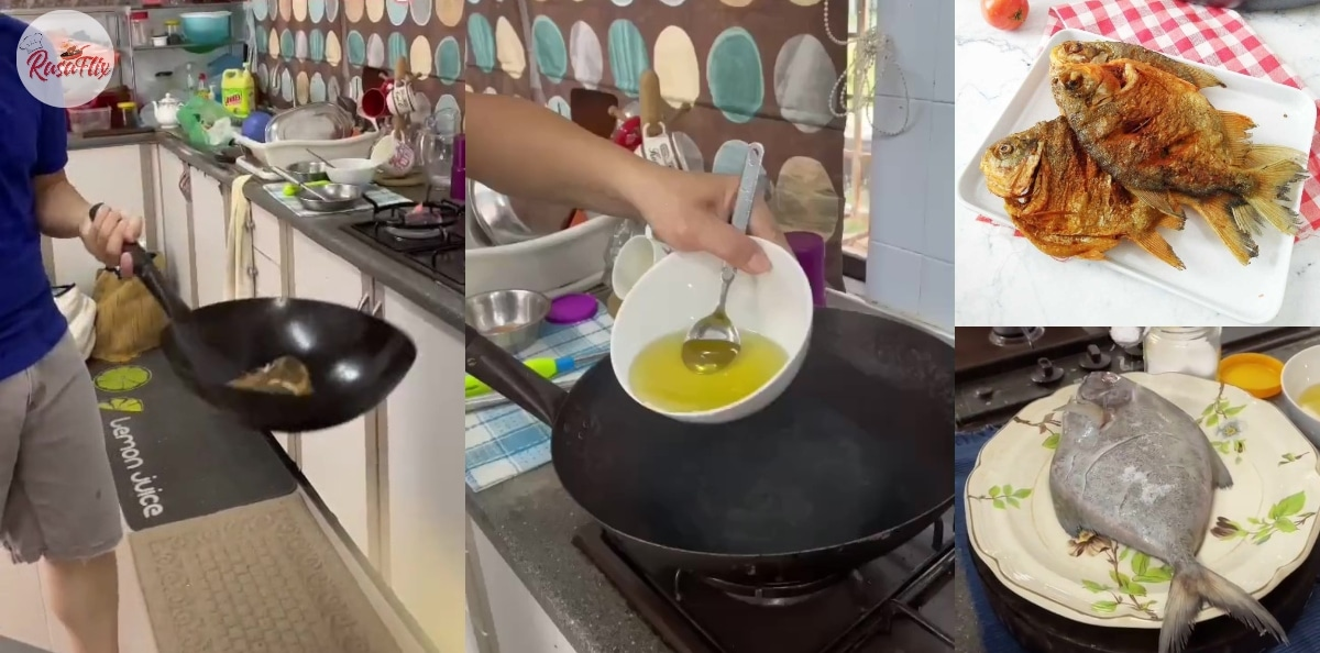 Tips Goreng Ikan Bawal Gerenti Tak Melekat Di Kuali, Lambung Pun Boleh!