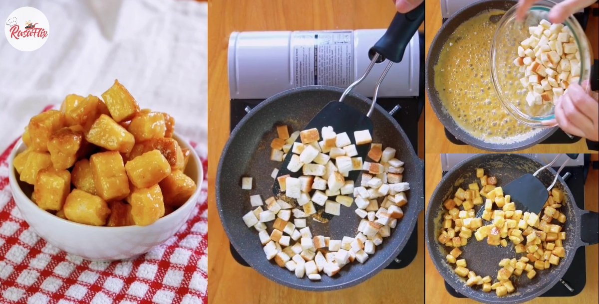 Popcorn Karamel Guna Roti Saja, Sekali Dah Makan Confirm Susah Nak Stop!
