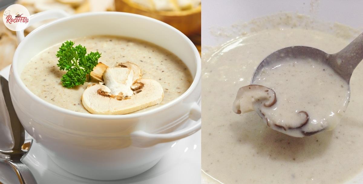 Mudahnya Buat Mushroom Soup Sendiri, Lemak Berkrim 'Sebijik' Kat Restoran