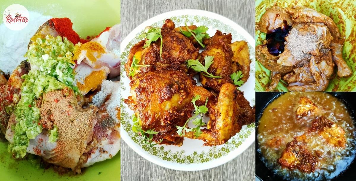Resepi Ayam Goreng Cili Hijau Belacan, Rangup Di Luar & Juicy Di Dalam