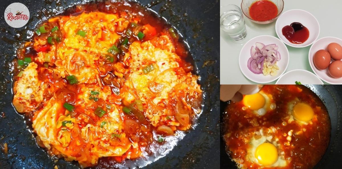 Tak Perlu Nak Goreng Pun, Mari Masak Telur Pecah Sambal 3 Rasa Hari Ni!